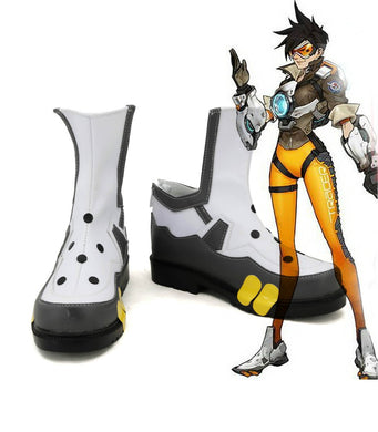 Overwatch OW Tracer Lena Oxton Cosplay Schuhe
