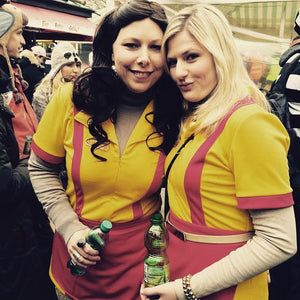 2 Broke Girls Max Caroline Kellnerinnen Uniform Kleid Cosplay Kostüm Karnival für Party Mottoparty