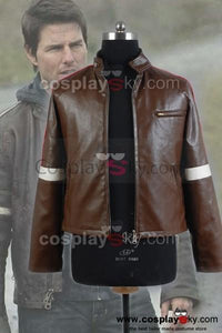 War of the Worlds Tom Cruise Brown Pleather Jacke