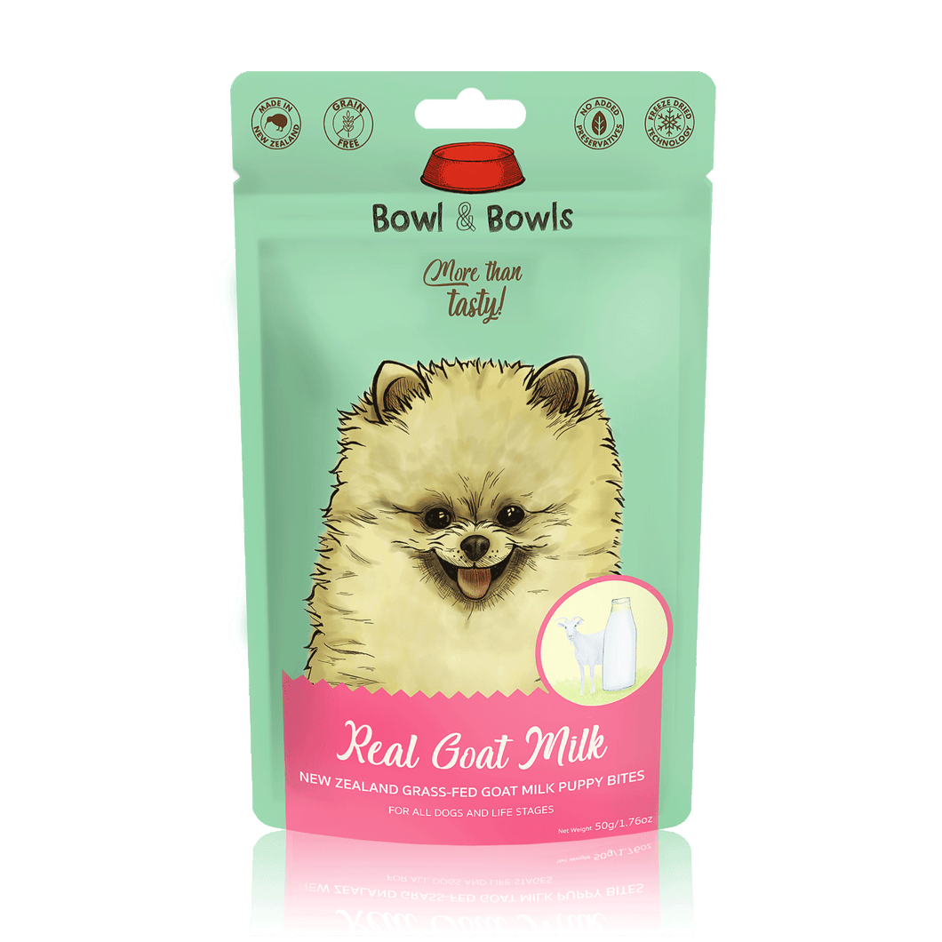 Bowl & Bowls | New Zealand Grass-fed Goat Milk Puppy Bites 50g