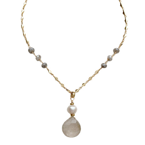 RILEY RUTILATED QUARTZ NECKLACE