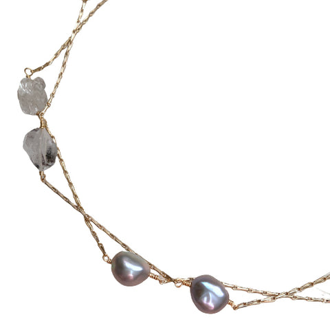 EMILIA LONG HERKIMER NECKLACE