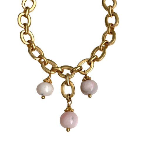 ODETTE PINK OPAL NECKLACE