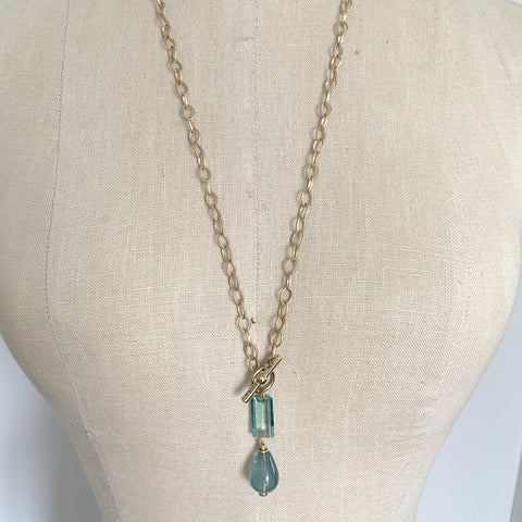 CHLOE BLUE DROP NECKLACE