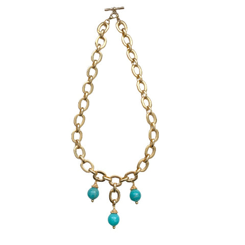 SERENA AMAZONITE STATEMENT NECKLACE