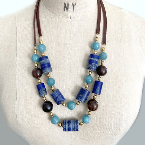 JESSA LAPIS NECKLACE