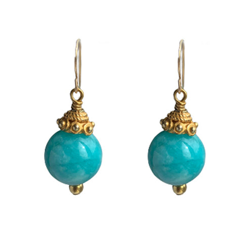 GRETA AMAZONITE EARRING