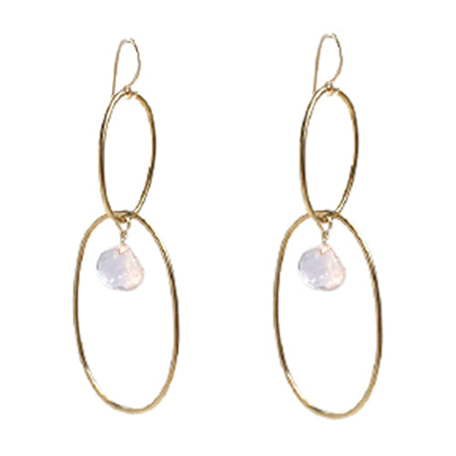 SCARLETT ROSE QUARTZ EARRINGS