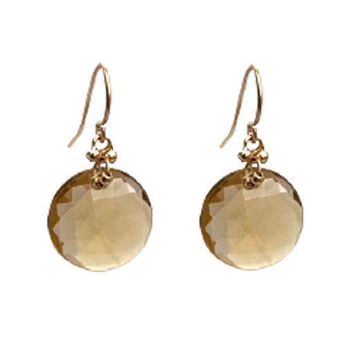 MIA COGNAC QUARTZ EARRINGS