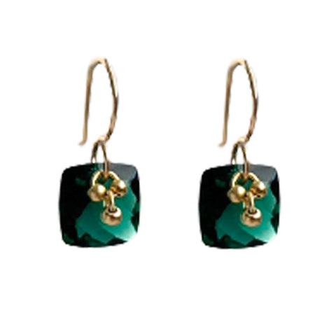 SAOIRSE FOREST GREEN EARRINGS