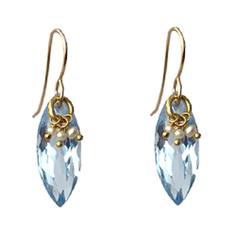PIPPA AQUA QUARTZ EARRINGS