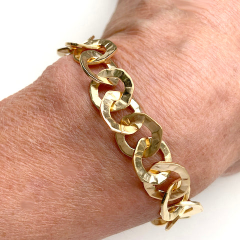 ADDISON HAMMERED LINKS BRACELET