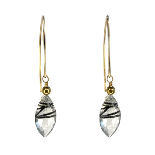 AMARI TOURMILATED QUARTZ EARRINGS