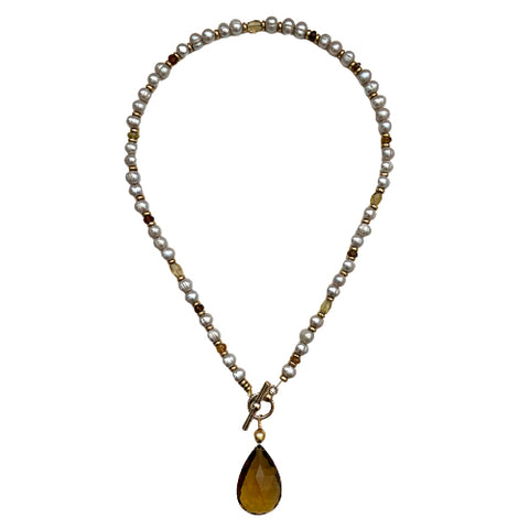 BAILEY COGNAC QUARTZ NECKLACE