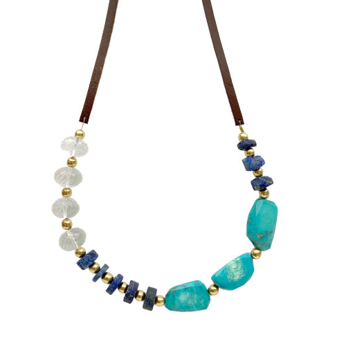 GABI TURQUOISE AND LAPIS NECKLACE