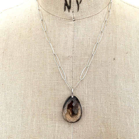STELLA SMOKY SLICE NECKLACE