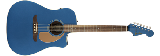 Fender California Series Redondo Player Acoustic Guitar. Blue