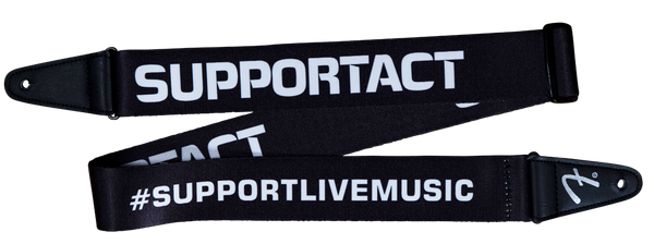 Fender Support Act Charity Strap - Black/White