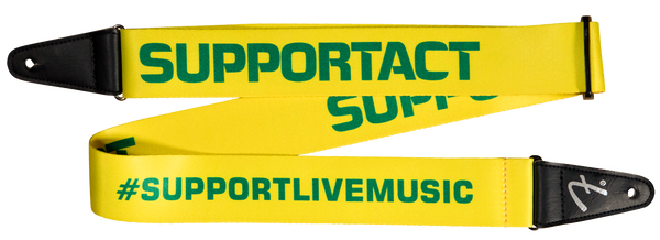 Fender Support Act Charity Strap - Yellow/Green