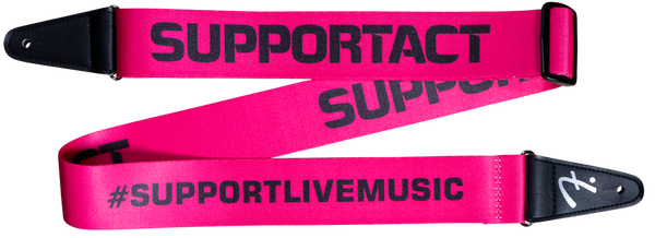 Fender Support Act Charity Strap - Pink/Black