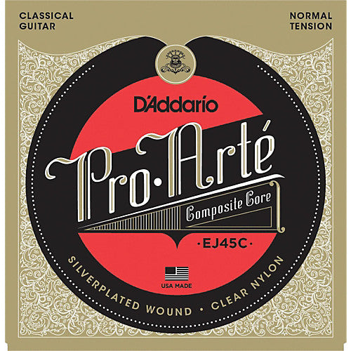 D'addario Classical Guitar Strings Pro Arte Composite Core Normal Tension