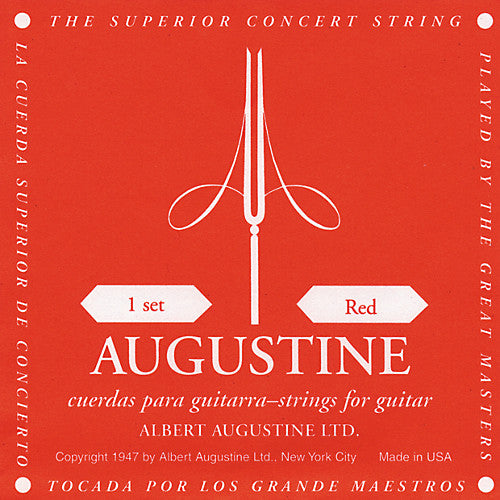 Augustine Classical Guitar Strings Medium Tension Red