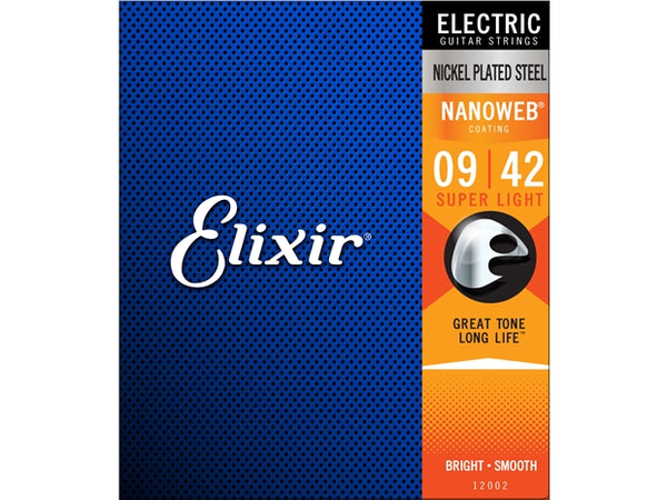 Elixir 9-42 Nanoweb Electric Strings