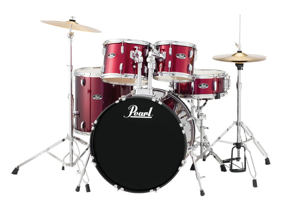 "Pearl Roadshow 22"" Fusion Plus Complete Drumkit. Red Wine"