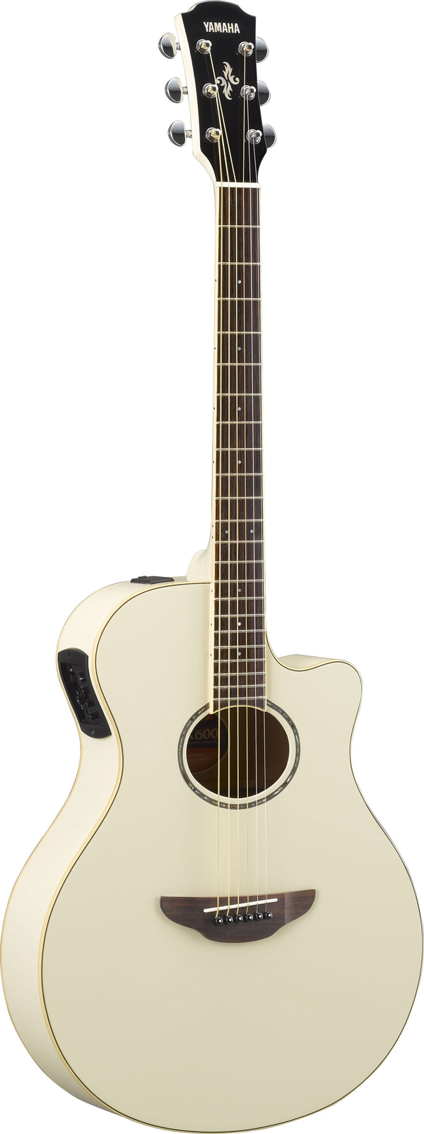 Yamaha APX600 Acoustic Guitar. Vintage White