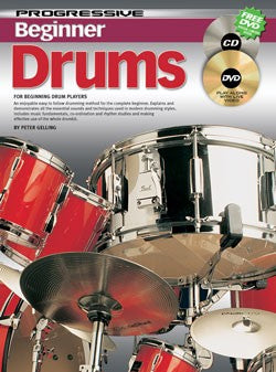 Progressive Beginner Drums Bk/Cd/Dvd