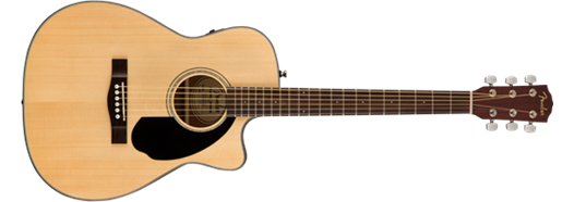 Fender CC-60SCE Concert Size Acoustic Electric Guitar. Natural