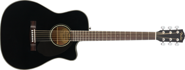 Fender CC-60SCE Concert Size Acoustic Electric Guitar. Black