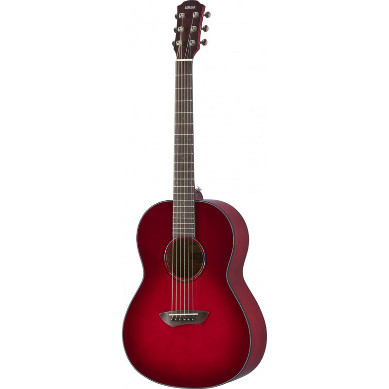 Yamaha CSF1MCRB Travel Acoustic Guitar. Crimson Red Burst