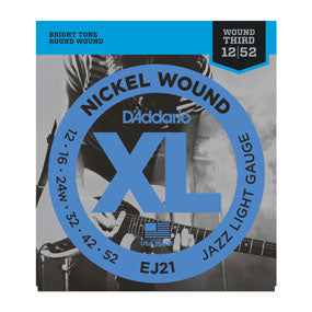 D'Addario 12-52 Electric Jazz Light Wound Third