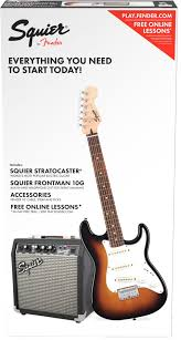 Squier Strat Electric Guitar Pack. Sunburst