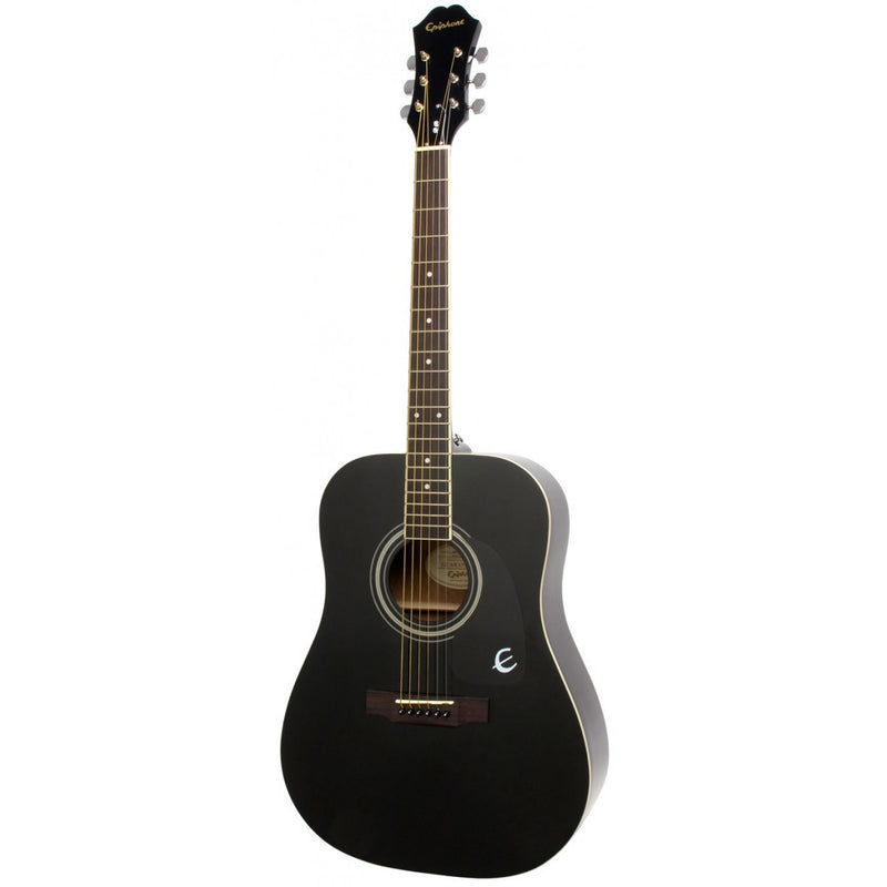 Epiphone DR100 Acoustic Guitar. Ebony Black