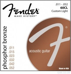 Fender Phosphor Bronze Strings Custom Light