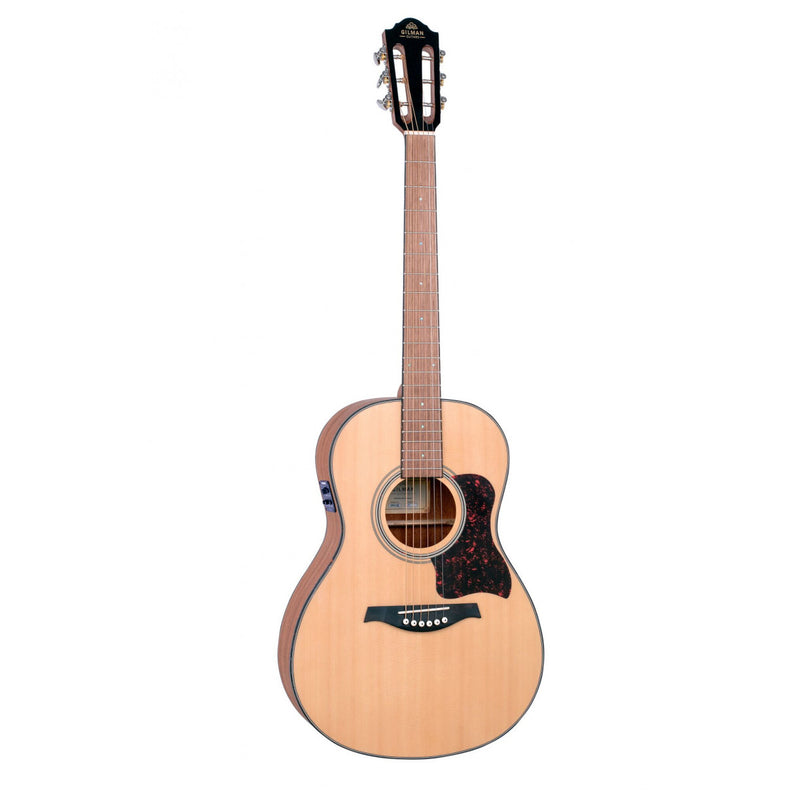 Gilman GPA10E Acoustic Electric Guitar. Parlour