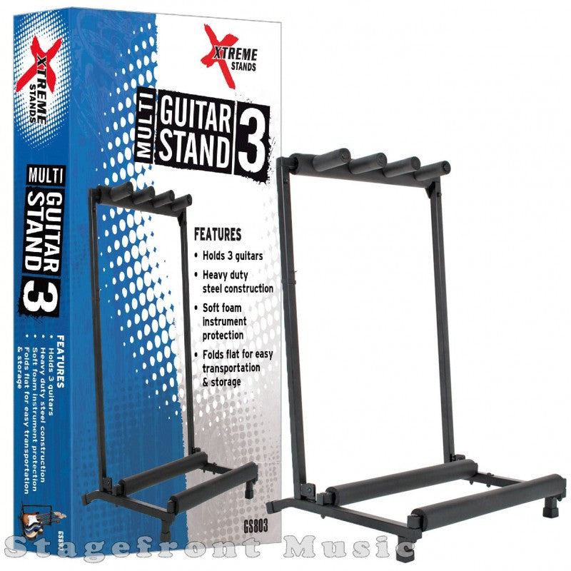 Guitar Stand Rack Holds 3 Guitars