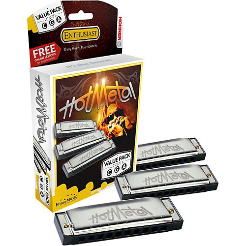 Hohner Hot Metal Harmonica Value Pack