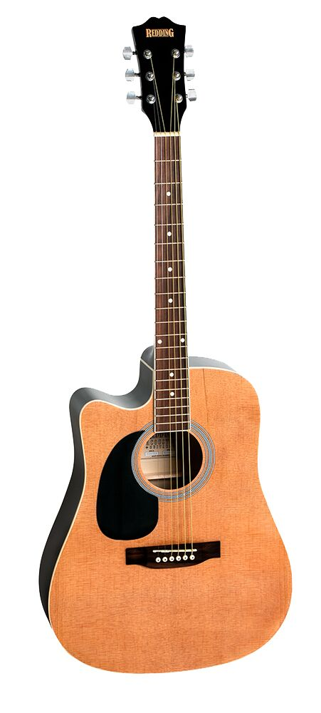 Redding Acoustic Electric Guitar, Left Handed. Natural