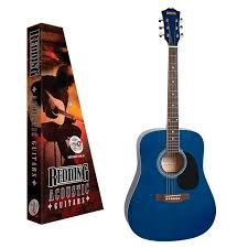 Redding Acoustic Guitar Pack. Transparent Blue
