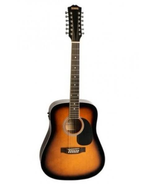 Redding 12 String Acoustic Electric Guitar Suburst