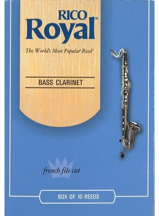 Rico Royal Bass Clarinet Reeds - Box Of 10 - Size 2.5