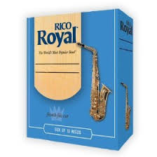 Rico Royal Alto Saxophone Reeds - Box of 10 - Size 2.0