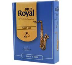 Rico Royal Tenor Saxophone Reeds - Box of 10 - Size 2.5