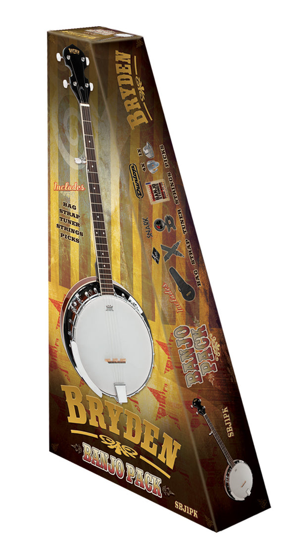 Bryden 5 string banjo package