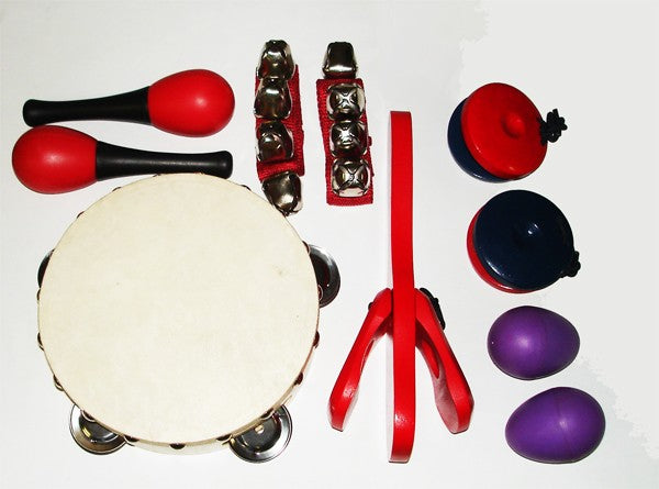 6 Piece Kids Percussion Pack