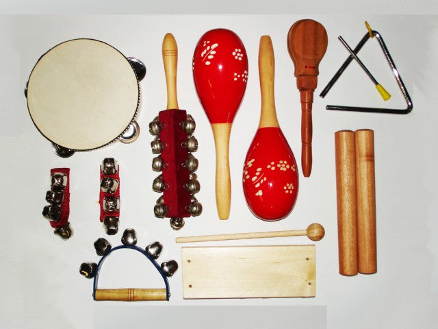 9 Piece Kids Percussion Pack