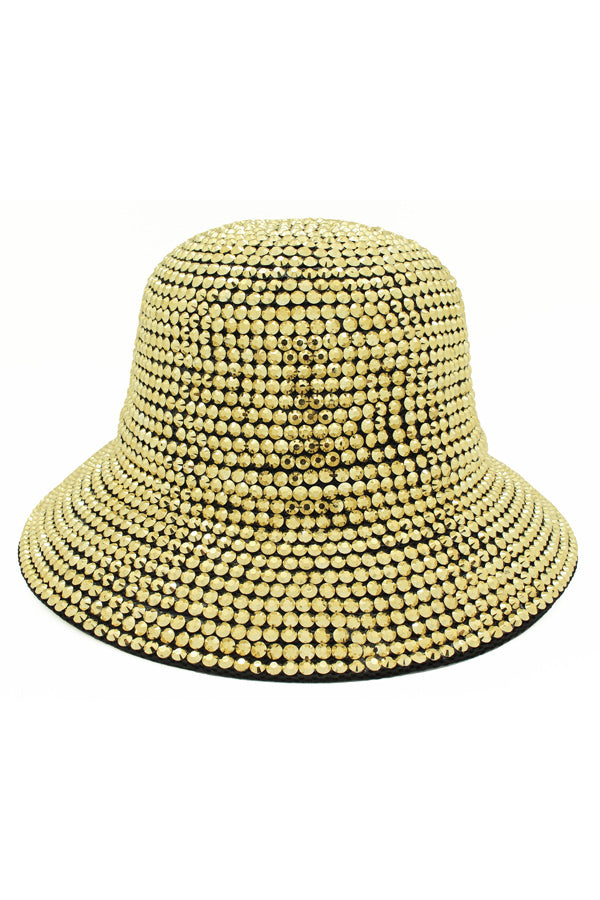 Bucket Hat Encrusted With Studs